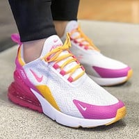 NIKE Air Max 270 New fashion hook women running shoes White