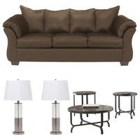 Signature Design by Ashley Darcy 6-Piece Living Room Set in Cafe