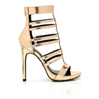 Strappy Situation Heel - Rose Gold