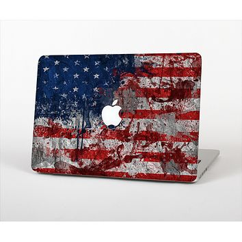 """The Grungy American Flag Skin Set for the Apple MacBook Air 11"""""""