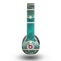 The Yellow Elegant Lace on Green Skin for the Beats by Dre Original Solo-Solo HD Headphones