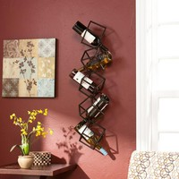 Southern Enterprises Nyssa 5-Bottle Wall-Mounted Wine Rack - Walmart.com
