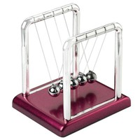 DCCKGQ8 new design newtons cradle fun steel balance balls physics science pendulum desk diy decoration accessory 9cm x 7 5cm x 9 5cm