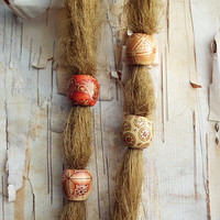 Patterned Wood Dread Bead ADD to your DREADS Dreadlock Bead Accessory Extension Accessories Boho Bohemian Hippie Silver