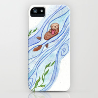 Sea Otter In Love iPhone Case by Jackie Sullivan | Society6