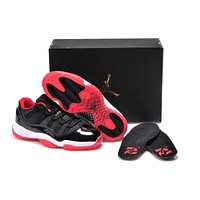 Air Jordan 11 Retro Aj11 Low Bred Basketball Shoes