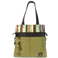 Convertible Crossbody Tote (Olive)