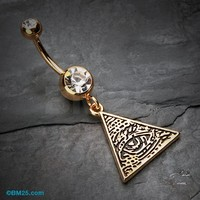 Golden Eye of Providence Belly Button Ring
