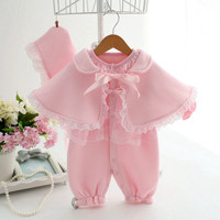 Newborn baby clothes 2017 new infant princess formal dress ropa de bebe girl clothing set coveralls baby rompers