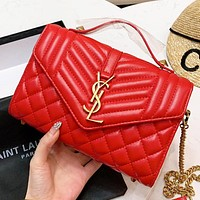 YSL New fashion leather shoulder bag crossbody bag handbag Red