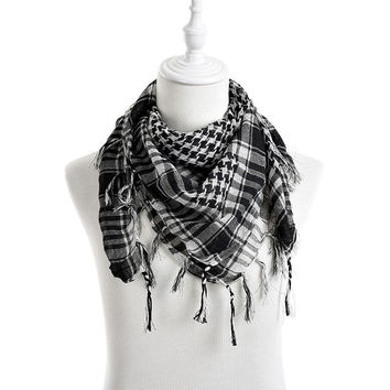 New Arab Shemagh Tactical Palestine Light Polyester Scarf Shawl For Men Women Fashion Plaid Printed Men Scarf  Wraps