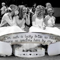 I'm Such a Lucky Bride Bracelet   Bridesmaid Gifts