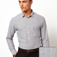 ASOS Smart Shirt in Long Sleeve with Stripe