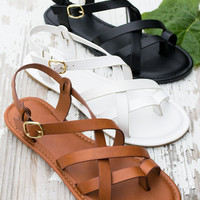 Crossover Buckle Sandal