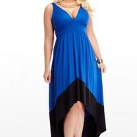 Plus Size Colorblock Maxi Dress | Fashion To Figure