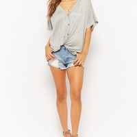 Relaxed Button-Front Shirt - Women - 2000294025 - Forever 21 Canada English
