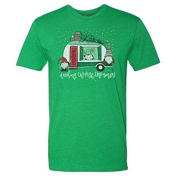 Southernology Statement Dashing Snow Gnomes Holiday Canvas T-Shirt