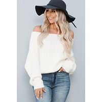 Pull You Back Sweater (Cream)