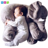 SGS® Baby Stuffed Elephant Plush Pillows Grey, 24 Inches