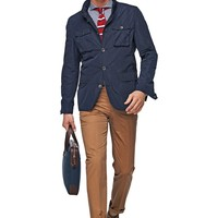 Navy Field Jacket J229 | Suitsupply Online Store