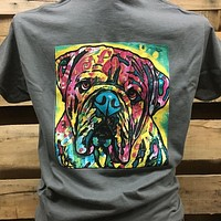 Backwoods Watercolor Dog Bulldog Bright Unisex T Shirt