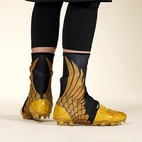 Icarus Black Gold Spats / Cleat Covers