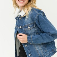 Wendy Denim Sherpa Jacket
