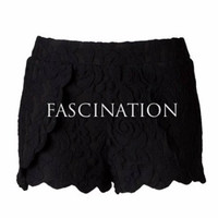 Innocence in Lace Shorts - Black
