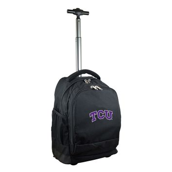 Texas Christian University Horned Frogs Wheeled Premium Backpack