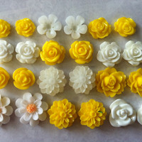 Ship from USA 24 pcs Mixed Cabochon Flowers .perfect for by mytasu