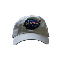 Vintage Culture NASA Patched Dad Cap In White