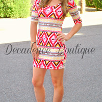 AZTEC SUNBURN DRESS
