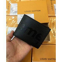 LV REAL LEATHER 1:1 MEN WALLET LOUIS VUITTON AA BAG BOX