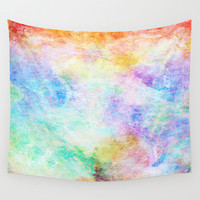 Pastel Color Splash 04 Wall Tapestry by Aloke Design