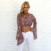 Raise Your Bell Sleeves Floral Top