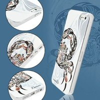 Brightdeal Cystal bling hard diamond case for iphone 5 5s Zodiac pattern Cancer