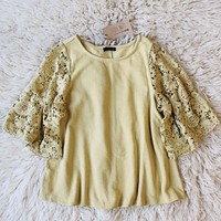 Dusty Mustard Top
