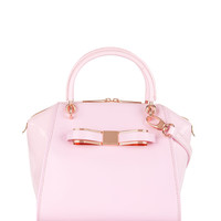 Leather tote bag - Dusky Pink   Bags   Ted Baker UK
