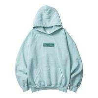 German Logo Overdyed Pullover Hoodie in Mint