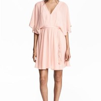 Short chiffon dress - Powder pink - Ladies | H&M CA