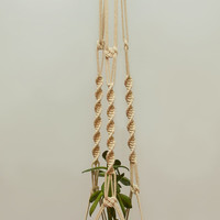"""Cotton Macrame Plant Hanger ~ Ceiling Hanging Basket 40"""" ~ Strong Hanging Planter ~ Wall Flower Pot Hanging ~ Rope Planter ~ Gift for Wife"""