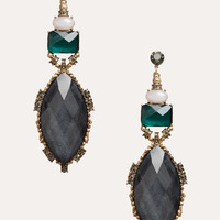 bebe Womens Faceted Stone Earrings Multi