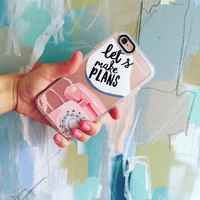 Cute iPhone 6s & 6s Plus Case (Let ?s Make Plans Pattern) by Casetify