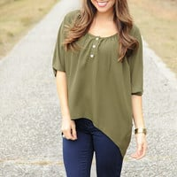 Just Like This Top: Green