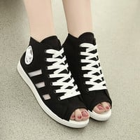 2016 summer airy open-toed shoes