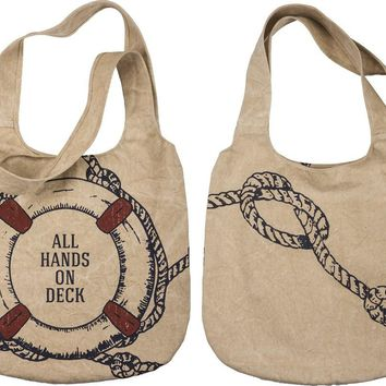 Nautical Theme Extra Large Tote Bag
