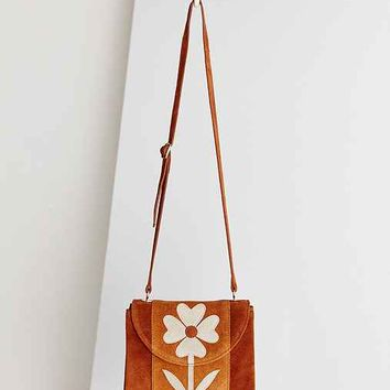 Ecote Floral Applique Crossbody Bag