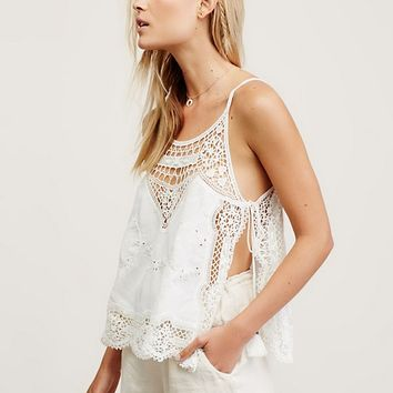 Free People Staying Alive Lace Top