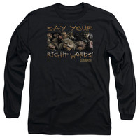 LABYRINTH/SAY YOUR RIGHT WORDS - L/S ADULT 18/1 - BLACK -