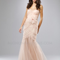 Mignon 2012 Prom Dresses - Blossom Layered Organza Strapless Sweetheart Mermaid Prom Dress